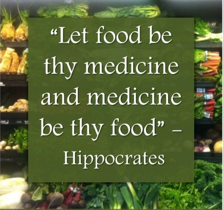 A popular quote attributed to Hippocrates.